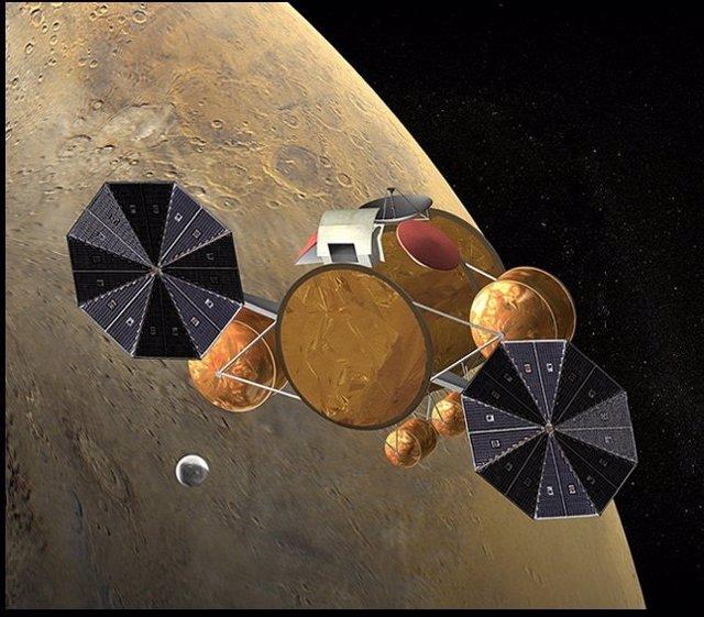 Representación nave para recoger muestras en Marte