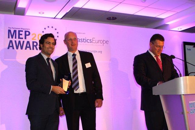 Pablo Zalba con el premio.