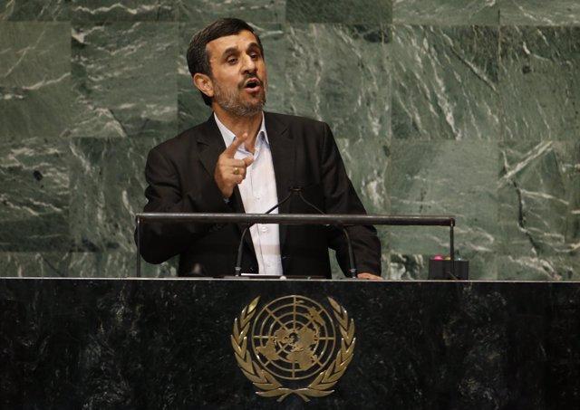 El presidente de Irán, Mahmud Ahmadineyad, en la ONU