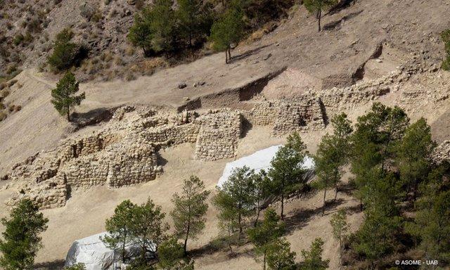 Imagen de la fortificación de La Bastida de hace 4.200 años