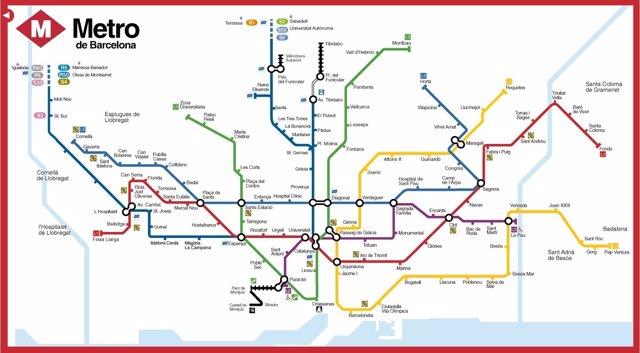 Lineas De Metro Barcelona Mapa.Discapacitados Visuales Podran Leer El Mapa De Metro De