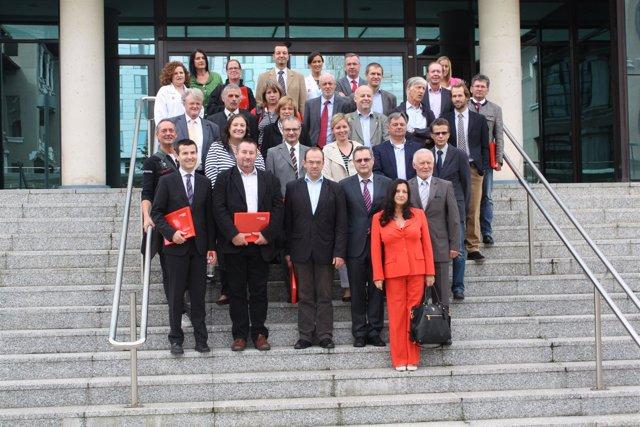Visita delegación Austria a Valdecilla