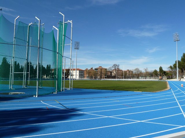 Pista de atletismo patra practicar deporte