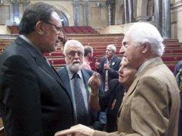 El conseller de Bienestar Social y Familia, Josep Lluis Cleries, en el Parlament