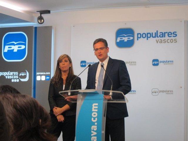 Los presidentes del pp vasco y catalán Basagoiti y Sánchez-camacho