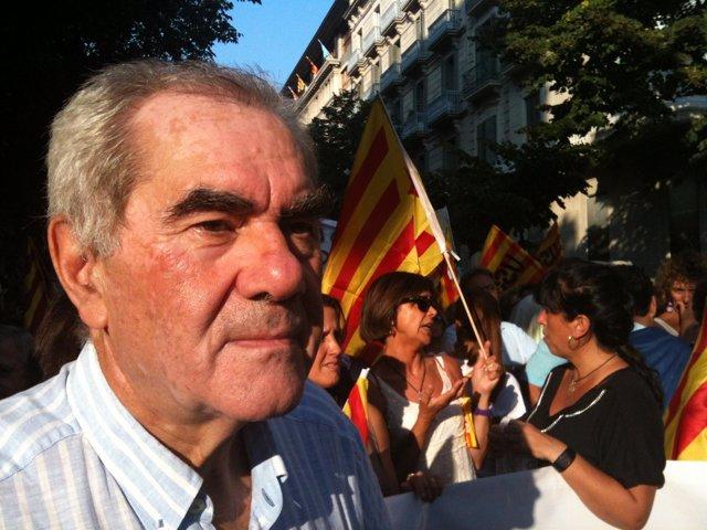 Ernest Maragall, En La Manifestación De La Diada