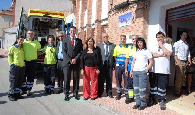 La consejera de Sanidad visita la base de la Gerencia de Emergencias 061