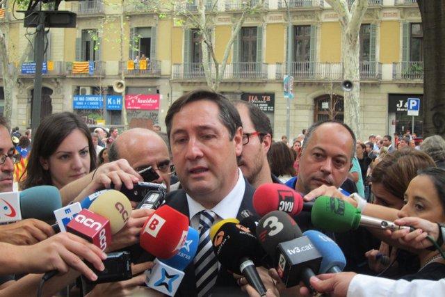Josep Maria Pelegri en la ofrenda floral de la Diada