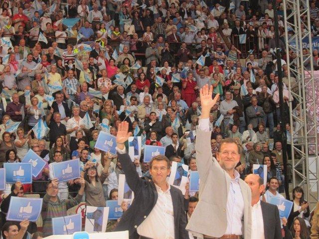 Mitin De Rajoy En Pontevedra