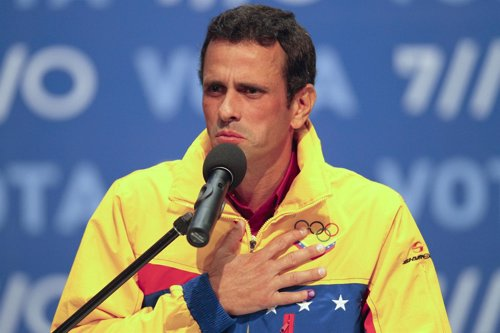 Candidato opositor en Venezuela, Henrique Capriles