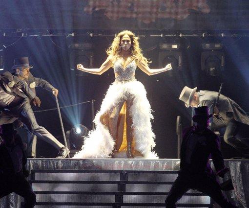 Jennifer López durante el concierto