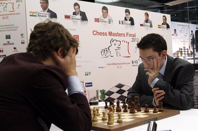 Final de Maestros de ajedrez Bilbao Carlsen Caruana