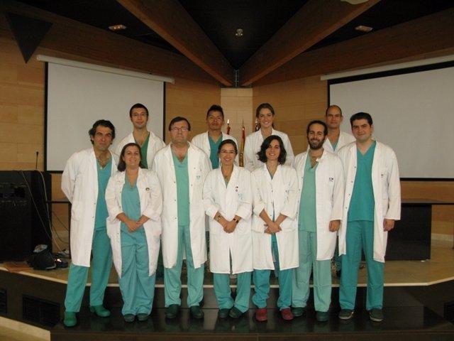 Imagen del equipo de cirugía robótica del HM Sanchinarro