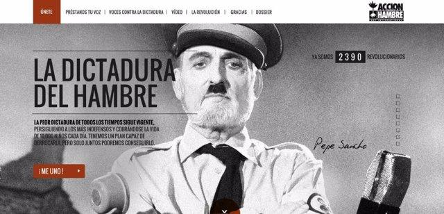 """El discurso del """"dictador"""" Pepe Sancho contra la tiranía del hambre"""