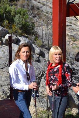 Subdelegadas Huesca y Lérida en pasarela Mont-rebei