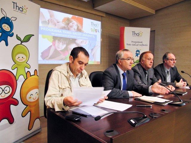 Firma de un convenio por un estudio de obesidad