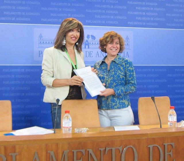 Mar Cambrollé y Alba Doblas, hoy en rueda de prensa