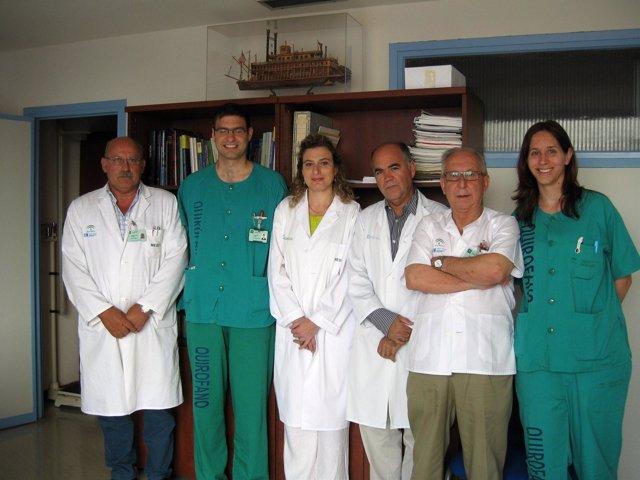 Equipo de profesionales del Carlos Haya que han participado en la investigación