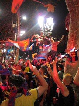 Canaletes Celebración Liga FC Barcelona
