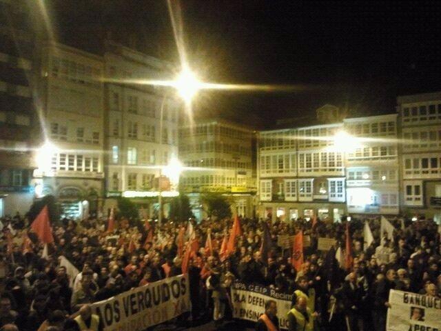 Manifestación en Ferrol