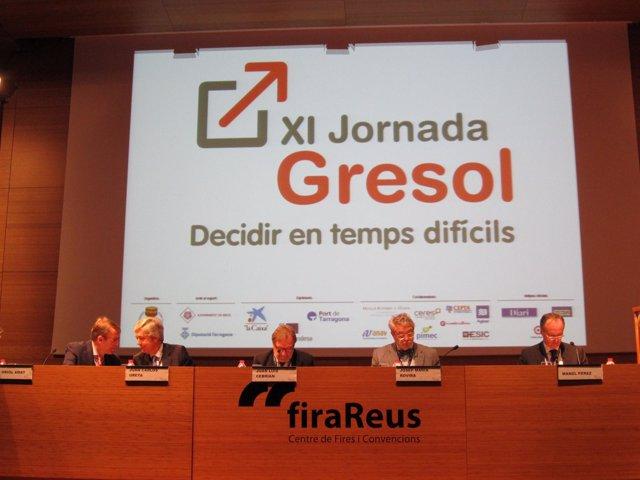 O.Amat (UPF) J.C.Ureta (Renta 4 Banc) J.L.Cebrián (Prisa) J.M.Rovira (Endesa)