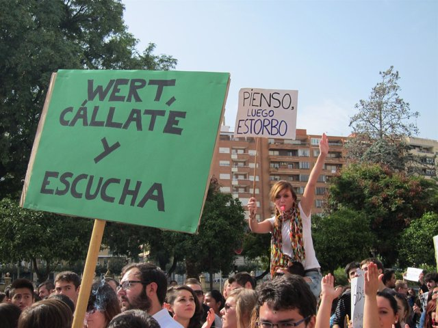 Imagen de un momento de la manifestación