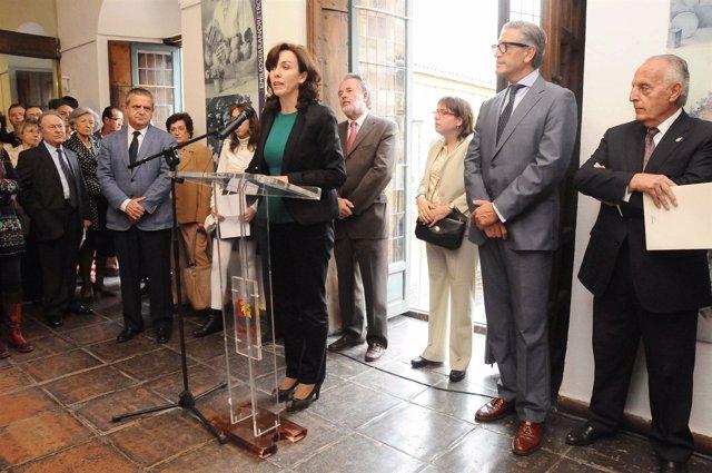 Inauguración de la exposición de Emilio Serrano
