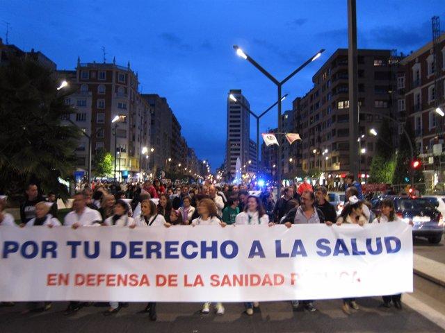 Manifestación sanidad y educación