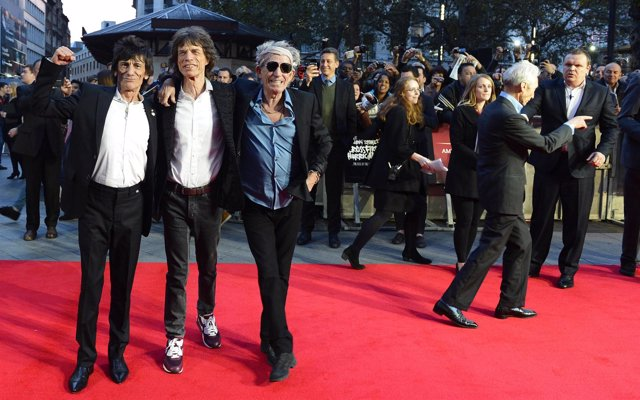 """The Rolling Stones arrive for the world premiere of 'Crossfire Hurricane"""""""