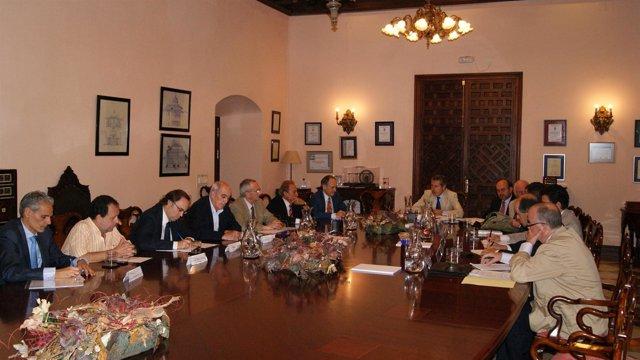 El Consejo Rector de ASA-Andalucía, en una reunión de trabajo