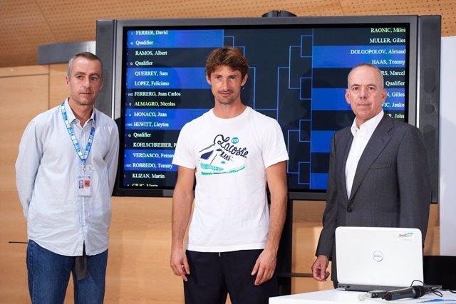 Juan Carlos Ferrero tras el sorteo del Valencia Open