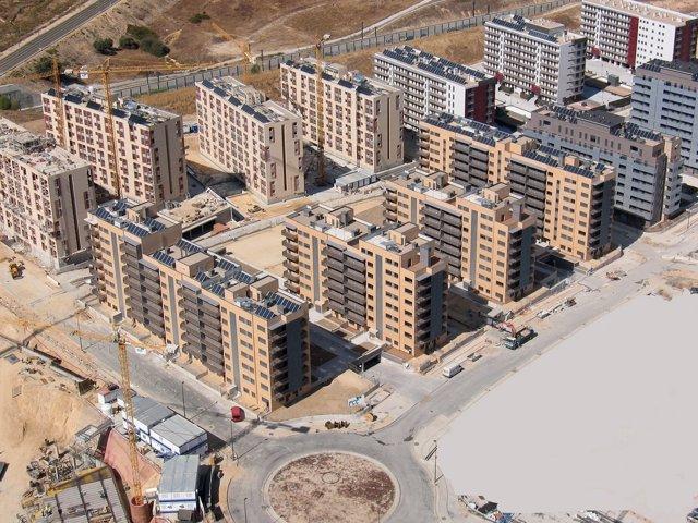 Viviendas ya construidas en la zona nueva de Tres Cantos
