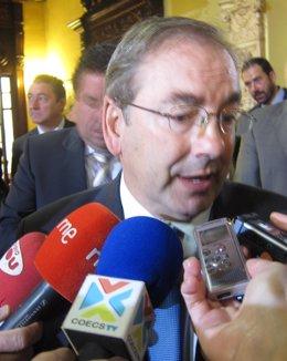 Rosado Atiende A Los Medios En Castellón