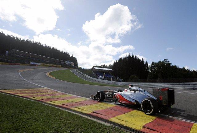 Jenson Button GP Bélgica pole