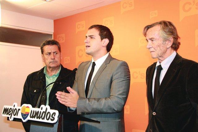 M.García, A.Rivera y F.Martorell, C's