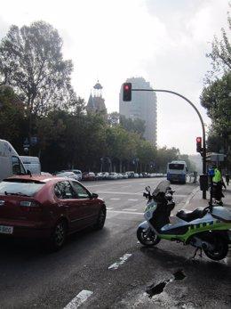 Control en semáforo en rojo