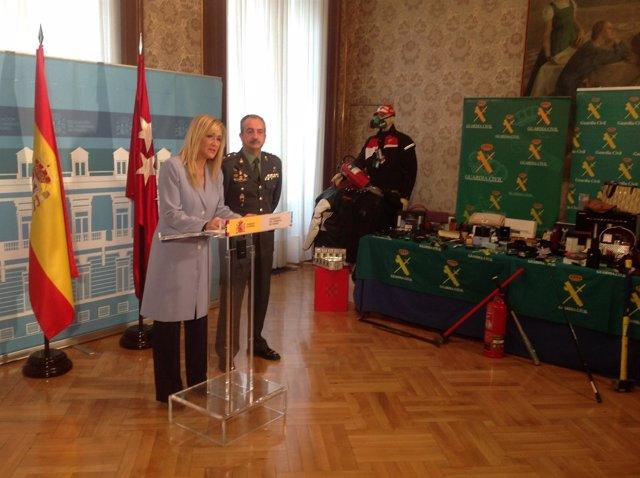 Cristina Cifuentes, en rueda de prensa