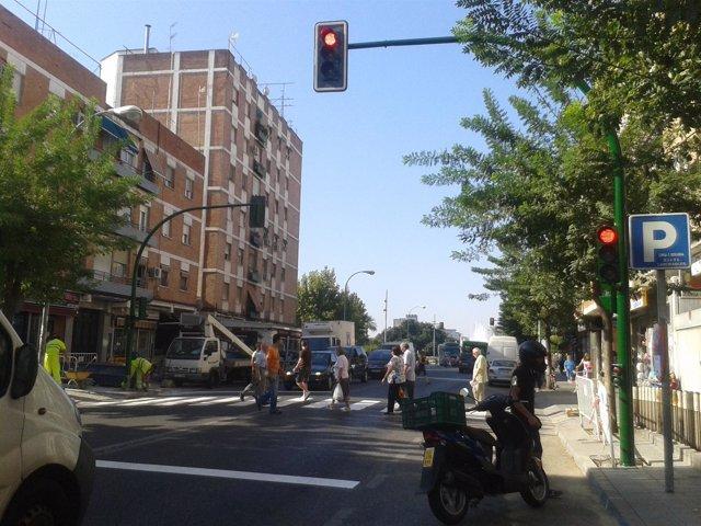 Semáforo En Avenida De Cádiz