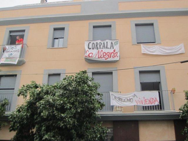 La Corrala Alegría, edificio ocupado de la calle Feria