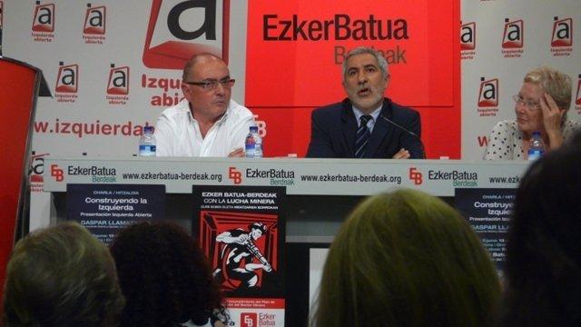 Javier Madrazo, De Ezker Batua, Y Gaspar Llamazares, De Izquierda Abierta