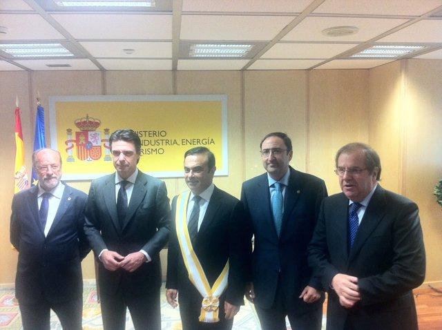 León de la Riva (I), Soria, Ghosn, Polanco y Herrera
