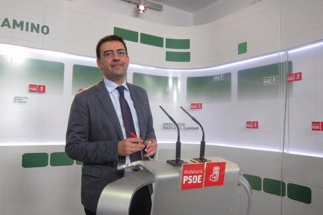 Mario Jiménez (PSOE-A), hoy en rueda de prensa