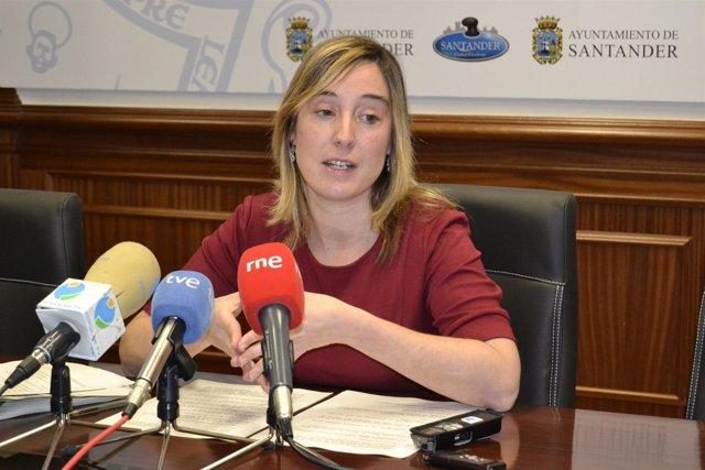 Eugenia Gómez De Diego, Portavoz Del PSOE En El Ayuntamiento De Santander