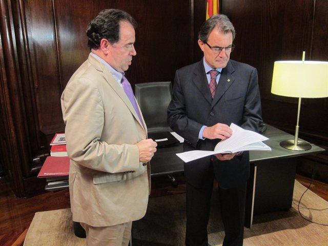 Josep Maria Rañé (CTESC) Y Artur Mas