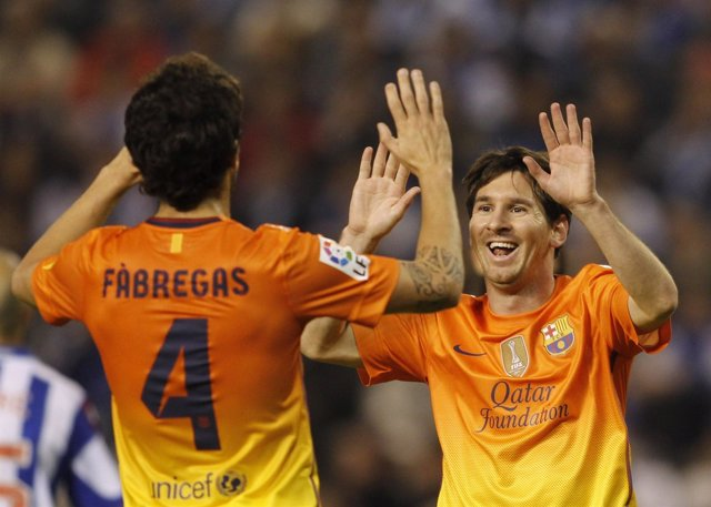 Messi y Fábregas