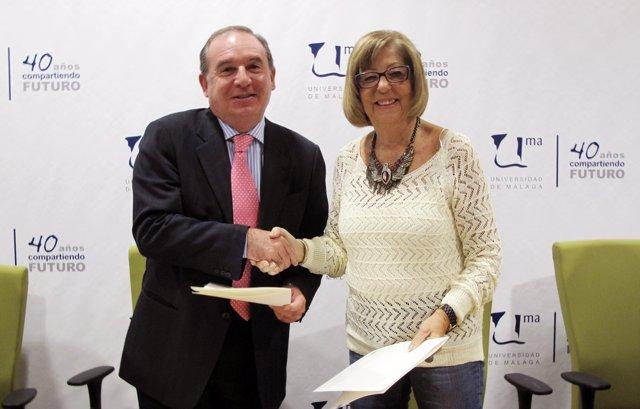 Delgado Bonilla y De la Calle en la firma del convenio