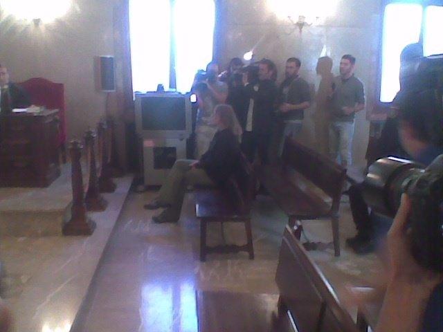 La presunta parricida de Menorca, en el banquillo