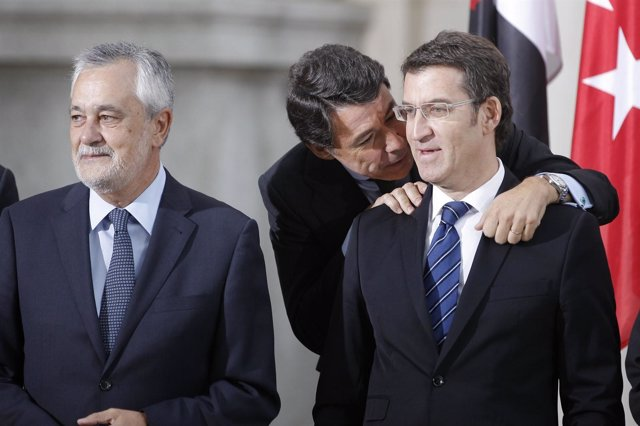 Ignacio González, Alberto Núñez Feijóo y José Antonio Griñán
