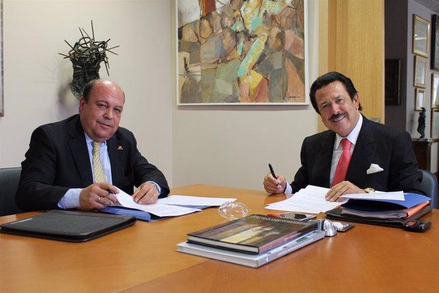El presidente de Morera y Vallejo, Antonio Morera, y el de Ancce, Javier Conde