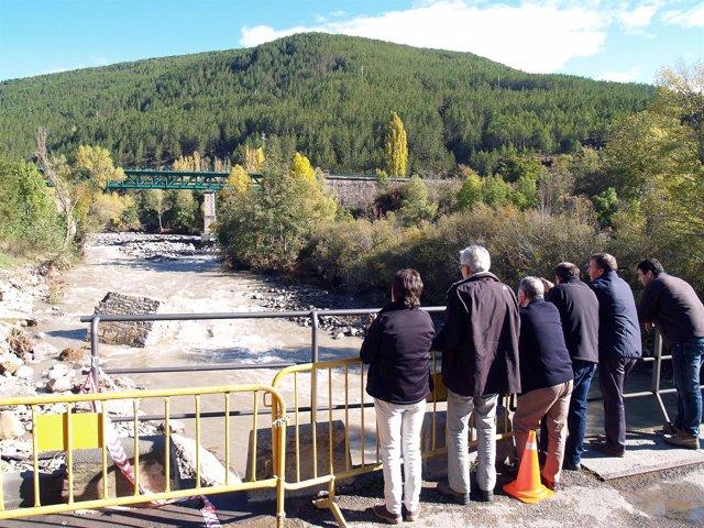 Representantes de la Diputación Provincial de Huesca visitan las zonas afectadas